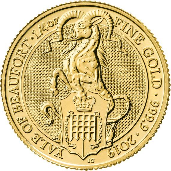 2019 イギリス クィーンズビースト:ボーフォートのエアレー 金貨 1/4オンス 新品未使用