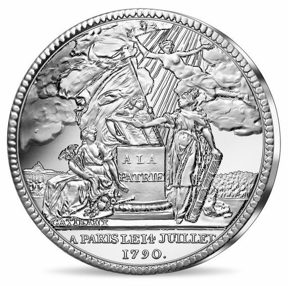 2019 フランス コインの歴史:7月14日 50ユーロ銀貨 カード型ケース付き 新品未使用