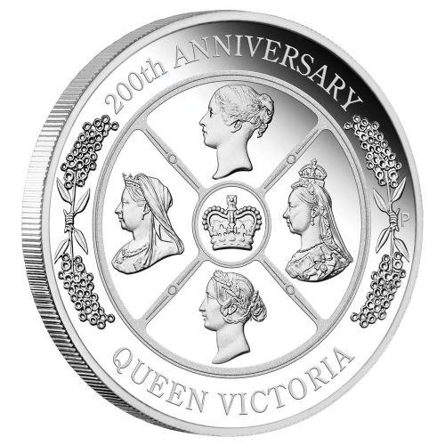 2019 オーストラリア ヴィクトリア女王生誕200周年記念 銀貨 1オンス プルーフ 箱とクリアケース付き 新品未使用