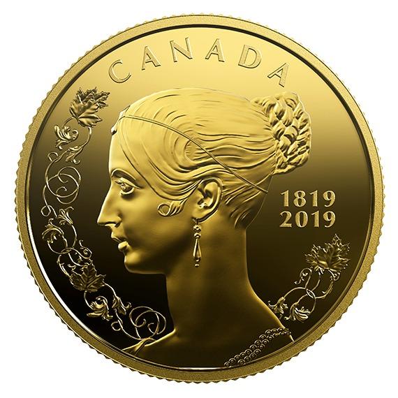 2019 カナダ ヴィクトリア女王生誕200周年記念 金貨 1/4オンス プルーフ 箱とクリアケース付き 新品未使用