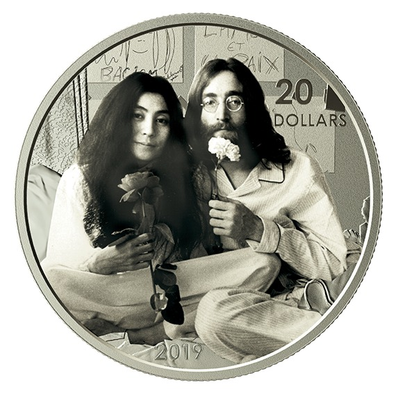 2019 カナダ 「平和を我等に」50周年 銀貨 1オンス プルーフ 箱とクリアケース付き 新品未使用