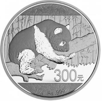 新品未使用 2016 中国 パンダ銀貨 1キロ 1000g