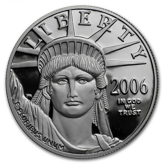 新品未使用 2006  アメリカ 1オンス イーグルプラチナ プルーフ