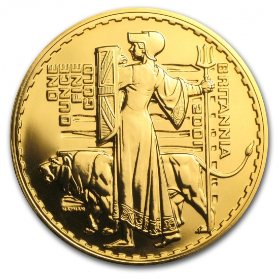 新品未使用 2001 イギリス ブリタニア金貨 1オンス クリアーケース付き