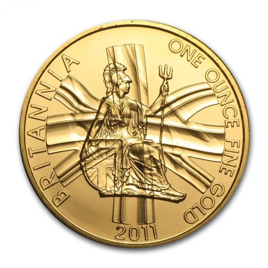 新品未使用 2011 イギリスブリタニア金貨 1オンス クリアーケース付き