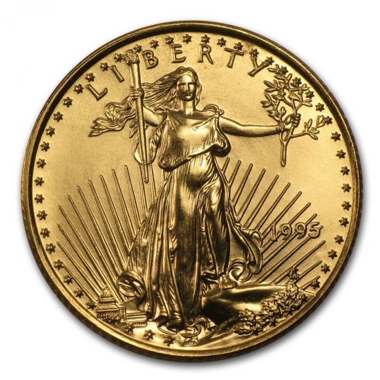 1995 アメリカ イーグル金貨 1/4オンス 【22mmクリアーケース付き】