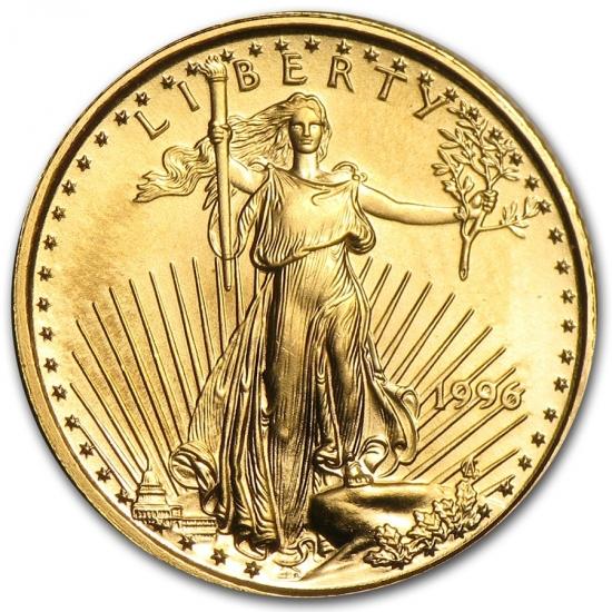 1996 アメリカ イーグル金貨 1/10オンス 【17mmクリアーケース付き】
