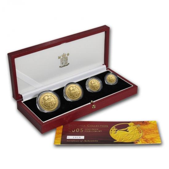 超安い 2005 イギリス Great Britain ブリタニア金貨1、1/2 Britain、1/4 イギリス Great、1/10オンス【4枚】セット, 常盤村:53329e25 --- newplan.com