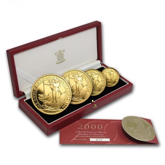 超人気高品質 2000 イギリス イギリス Great Britain Britain ブリタニア金貨1、1/2、1【4枚】セット/4、1/10オンス【4枚】セット, ガーデンマート:b09ef0ba --- newplan.com