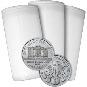 新品未使用 2015 オーストリア ウィーン銀貨1オンス【240枚】セット オーストリア造幣局のケース付き