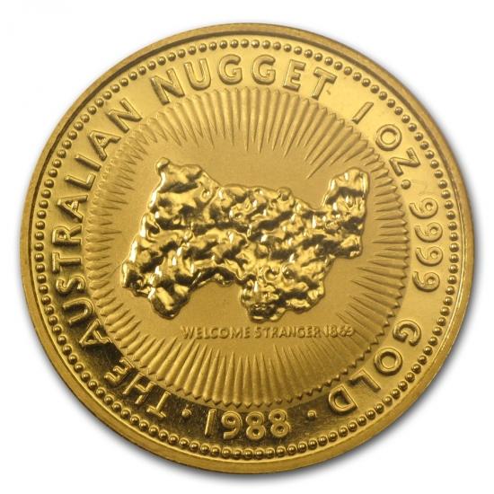 新品未使用 1988 オーストラリア、カンガルー金貨1オンス クリアーケース付き