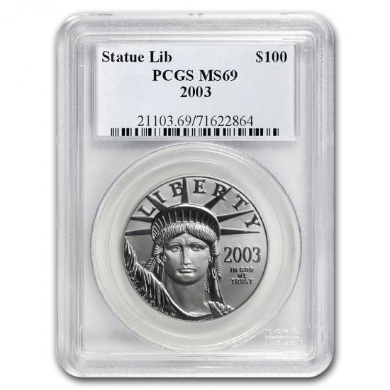 2003  アメリカ 1オンス プラチナイーグル MS-69 PCGS
