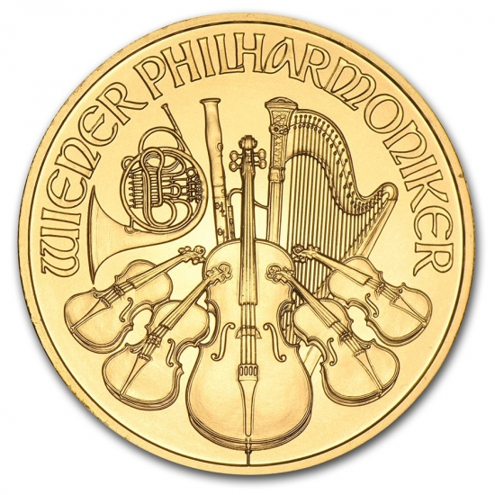 新品未使用 2014 オーストリア ウィーン金貨 1オンス(37mmクリアーケース付き)