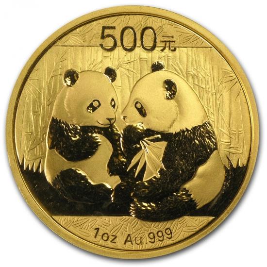 新品未使用 2009 中国  パンダ金貨 1オンス