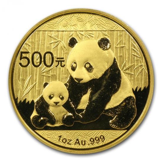 新品未使用 2012 中国  パンダ金貨1オンス