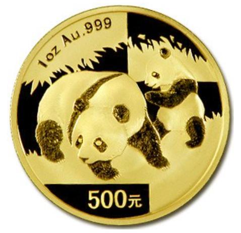 新品未使用 2008 中国  パンダ金貨1オンス