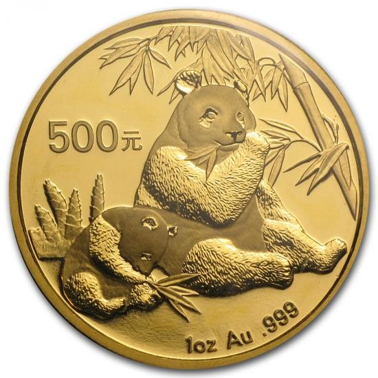 新品未使用 2007 中国  パンダ金貨1オンス