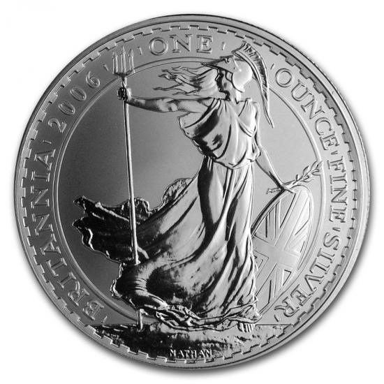 2006 イギリス ブリタニア銀貨1オンス (39mmクリアーケース付き)