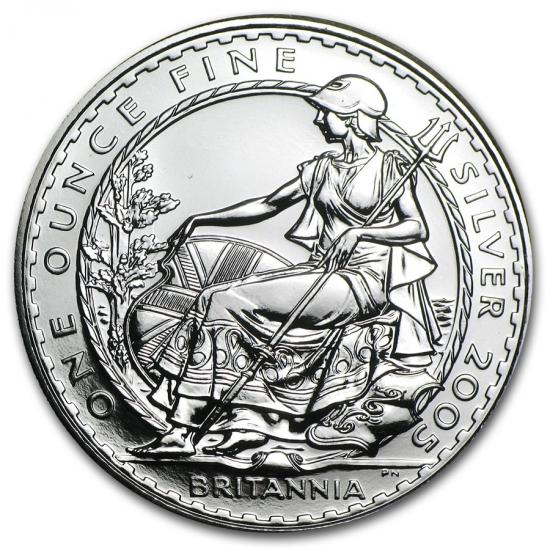 2005 イギリス ブリタニア銀貨1オンス (39mmクリアーケース付き)