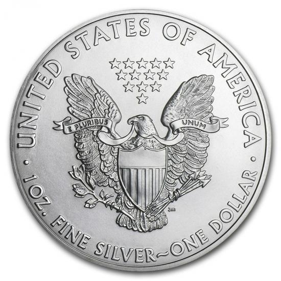 新品未使用 2011 アメリカ イーグル銀貨1オンス(41mmクリアーケース付き)