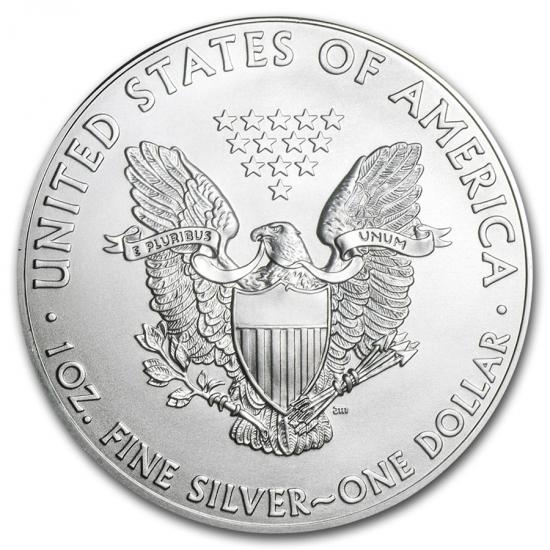 新品未使用 2002 アメリカ イーグル銀貨1オンス(41mmクリアーケース付き)