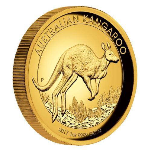 新品未使用 2017 オーストラリア プルーフハイレリーフカンガルー金貨1オンス