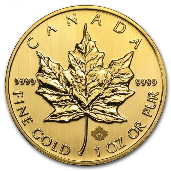 新品未使用 2013 カナダ メイプル金貨 1オンス。(30mmクリアーケース付き)