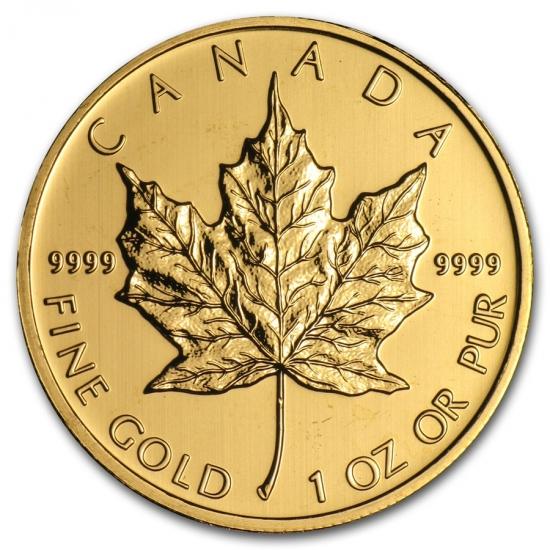 新品未使用 2012 カナダ メイプル金貨 1オンス。(30mmクリアーケース付き)