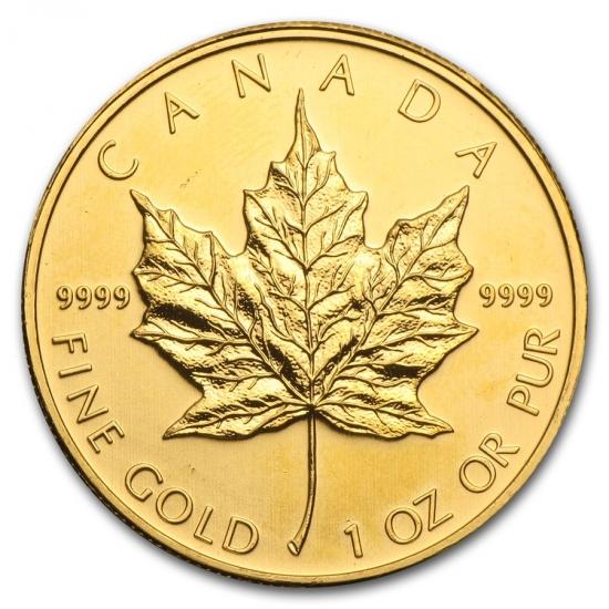 新品未使用 2011 カナダ メイプル金貨 1オンス。(30mmクリアーケース付き)