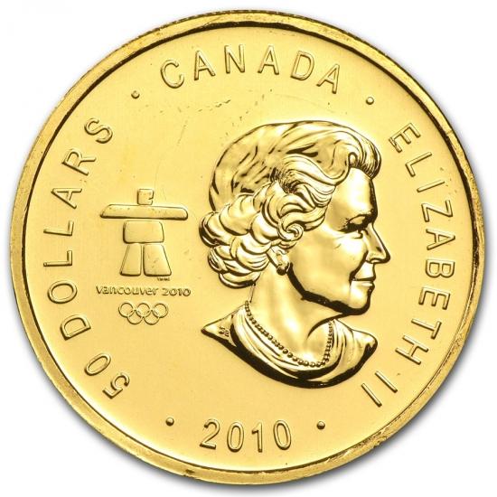 新品未使用 2010 カナダ メイプル金貨(Vancouver Olympics)1オンス。(30mmクリアーケース付き)