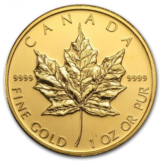 新品未使用 2009 カナダ メイプル金貨1オンス。(30mmクリアーケース付き)