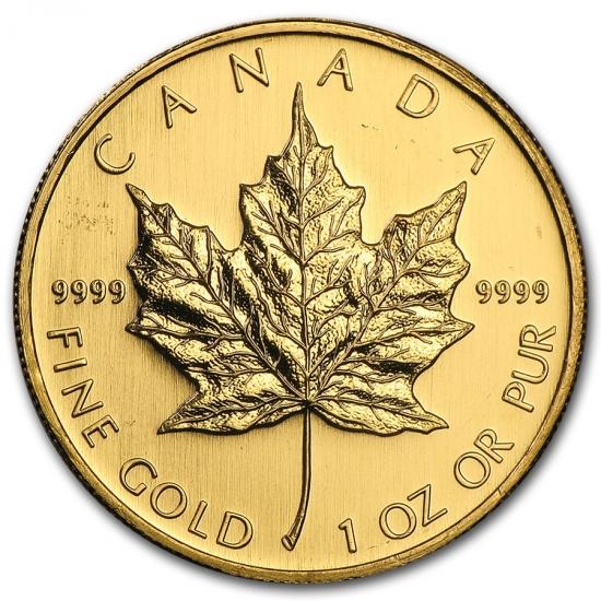 新品未使用 2008 カナダ メイプル金貨 1オンス。(30mmクリアーケース付き)
