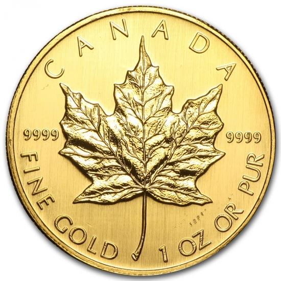 新品未使用 2007 カナダ メイプル金貨 1オンス。(30mmクリアーケース付き)