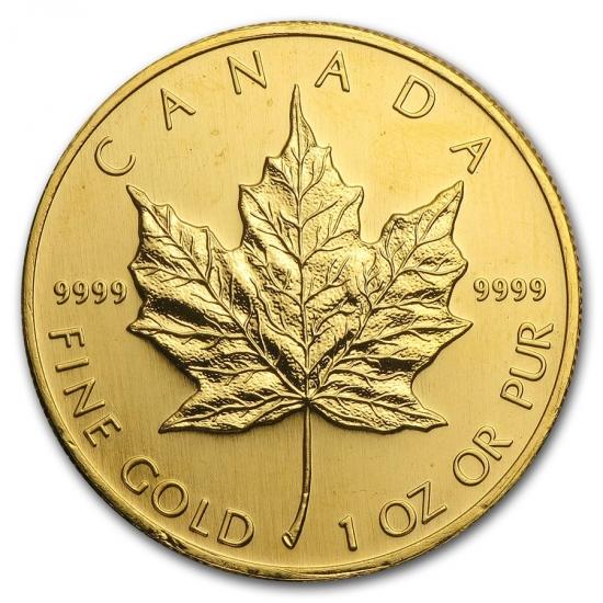 1994 カナダ メイプル金貨1オンス 30mmクリアーケース付き 新品,限定SALE