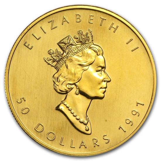 1991 カナダ メイプル金貨1オンス 30mmクリアーケース付き 人気,限定セール