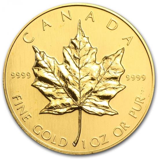 1989 カナダ メイプル金貨1オンス 30mmクリアーケース付き 格安,品質保証