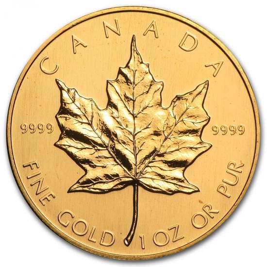 1988 カナダ メイプル金貨1オンス 30mmクリアーケース付き 得価,人気SALE