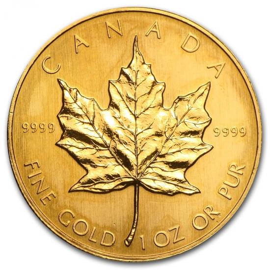 1987 カナダ メイプル金貨1オンス 30mmクリアーケース付き 人気定番,セール