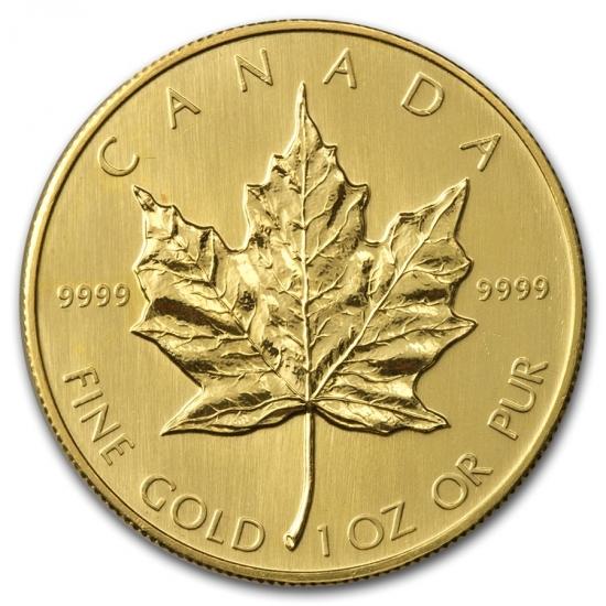 1985 カナダ メイプル金貨1オンス 30mmクリアーケース付き 品質保証,本物保証