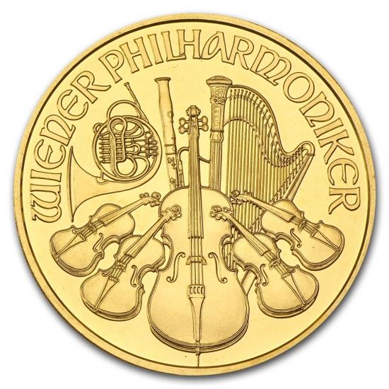 新品未使用 1999 オーストリア ウィーン金貨 1オンス(37mmクリアーケース付き)