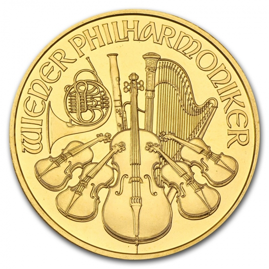 新品未使用 1990 オーストリア ウィーン金貨 1オンス(37mmクリアーケース付き)