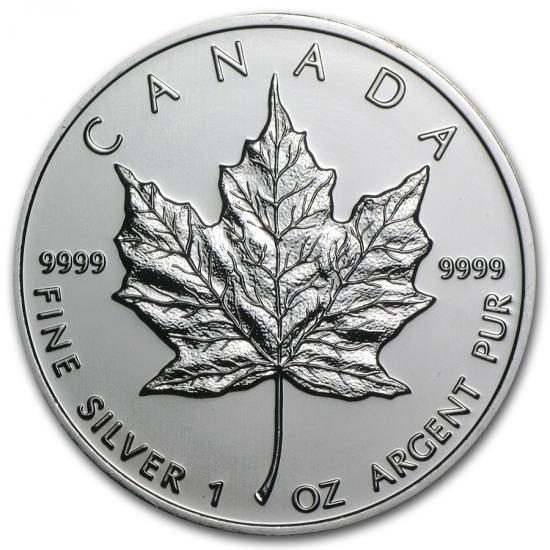 新品未使用 2009  カナダ メイプルリーフ銀貨 1オンス【38mmクリアーケース付き】