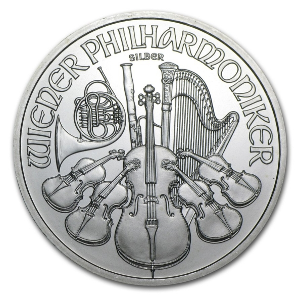 新品未使用 2010 オーストリア ウィーン銀貨 1オンス 37mmクリアーケース付き