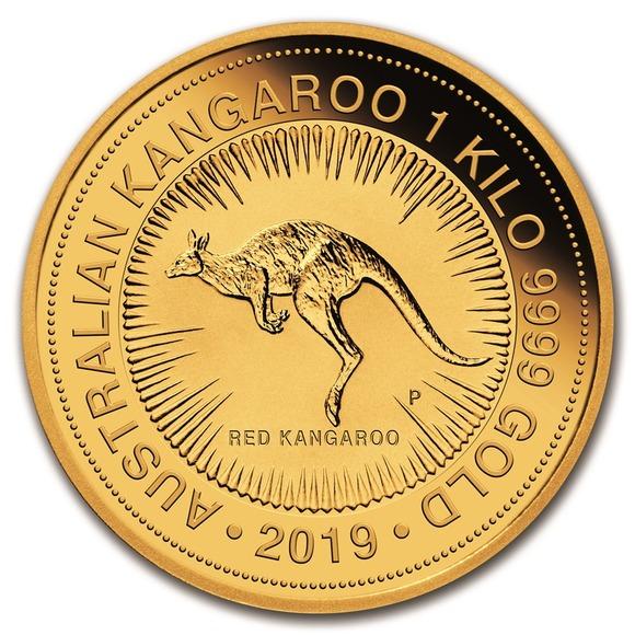 2019 オーストラリア カンガルー金貨 1キロ クリアケース付き 新品未使用