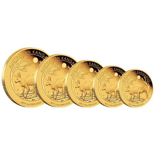 2019 オーストラリア カンガループルーフ金貨【5枚】セット 箱とクリアケース付き 新品未使用