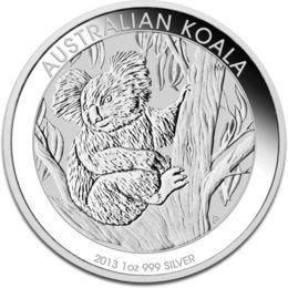 2013年製 新品未使用 コアラ銀貨 1オンス クリアーケース付き