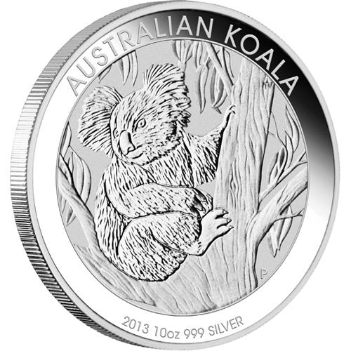 2013年製 新品未使用 コアラ銀貨 10オンス クリアーケース付き