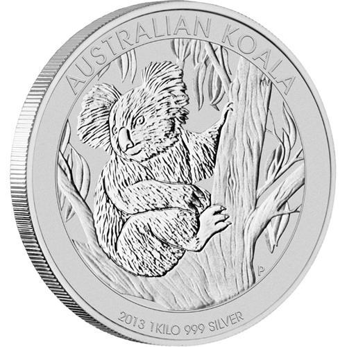 2013年製 新品未使用 コアラ銀貨 【1キロ】 クリアーケース付き