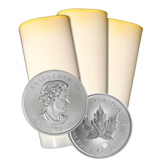 2015年製造 カナダメイプルリーフ銀貨 1オンス 250枚 25枚組10本 セット 最新作,定番人気