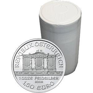 2015年製新品未使用ウィーン銀貨1オンス20枚セット 造幣局ケースと【37mmクリアーケース20枚付】